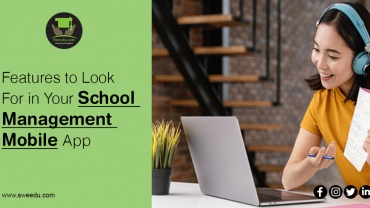features for school management mobile app