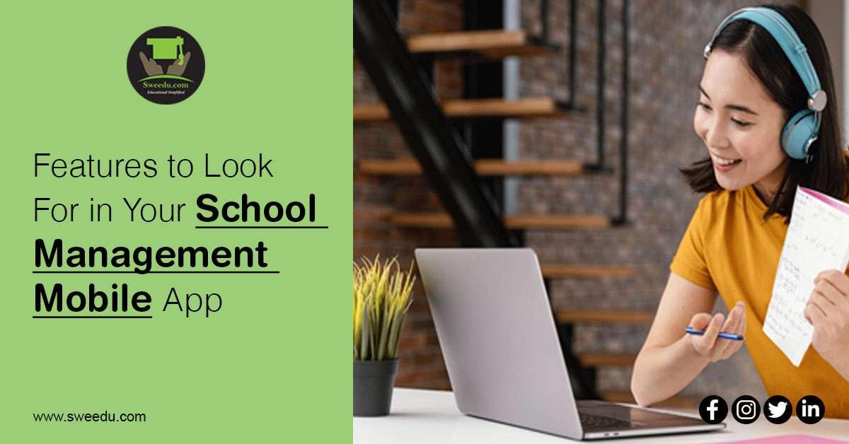 features for school management mobile app